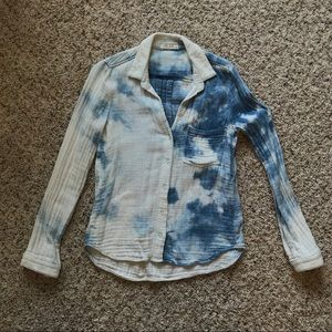 Bella Dahl tie dye button down